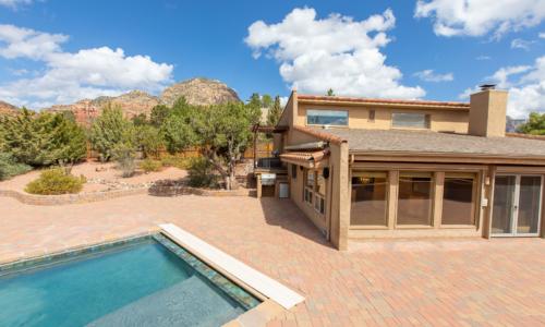 Custom home for sale in Sedona Arizona.  Real estate photography by Mark S. Haughwout