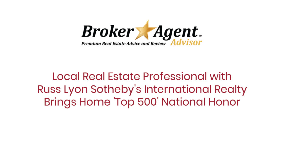 Local Real Estate Professional With Russ Lyon Sotheby's International Realty Brings Home 'Top 500' National Honor